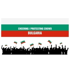 Cheering or Protesting Crowd Bulgaria vector image