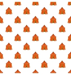 Circus tent pattern cartoon style vector image