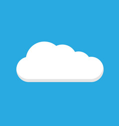 cloud icon white color on blue background vector image