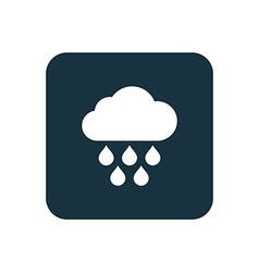 cloud rain icon Rounded squares button vector image