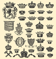 coats arms and crowns vector image