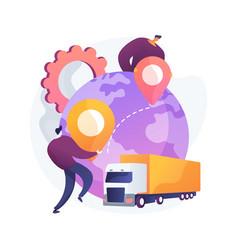 collaborative logistics abstract concept vector image