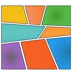 Comics book background vector