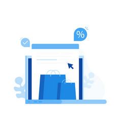 concept online shopping vector image