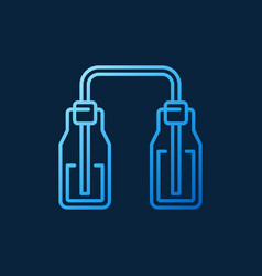connected bottles blue modern icon symbol vector image