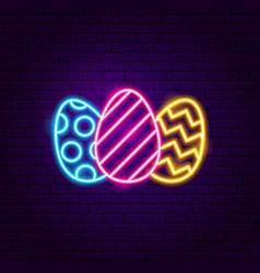 Easter eggs sign vector