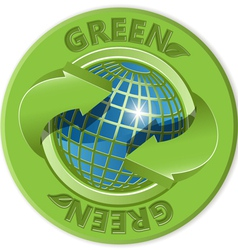 eco green label vector image