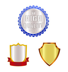 emblem and badge sign vector image