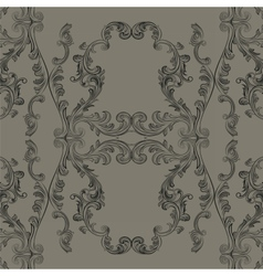 Glamourous Baroque Rococo engraved pattern vector