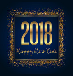 glittery happy new year background vector image
