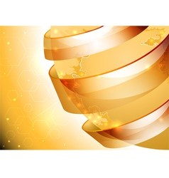 Glossy gold world abstract background vector image