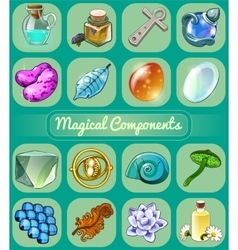 Great set of magical artifacts vector