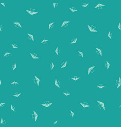 Green hang glider icon isolated seamless pattern vector