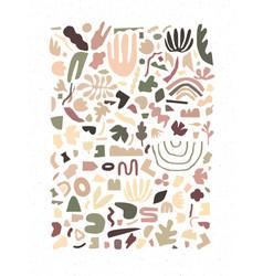handmade geometric abstract shapes khaki vector image