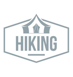 hiking emblem ogo vintage style vector image
