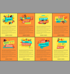 hot price on mega sale and descount week banners vector image