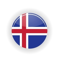 Iceland icon circle vector image