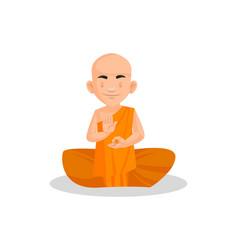 indian urban monk cartoon character vector image