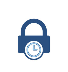 lock password private protection secure time icon vector image