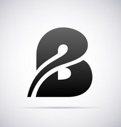 Logo for letter B vector
