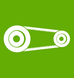 Mechanic belt icon green vector