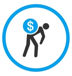 Money Courier Circled Icon vector