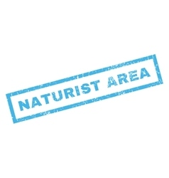 Naturist Area Rubber Stamp vector image