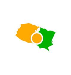 Orange county california map vector