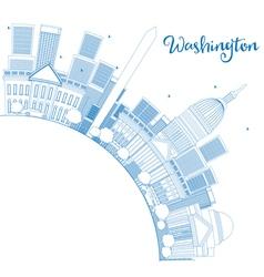 Outline Washington DC Skyline vector