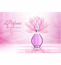 Perfume product rose composition vector