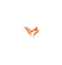 phoenix bird logo icon vector image