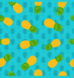 pineapple tropical seamless pattern for summer vector image