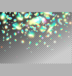 rainbow holographic effect background with glitter vector image