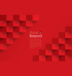 red abstract background 3d paper art style vector image