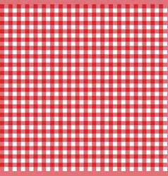 red classic checkered table cloth texture backgro vector image