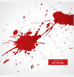 Red ink splatter texture stain background vector