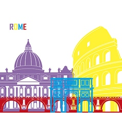 Rome skyline pop vector