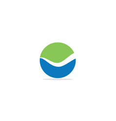 round wave abstract eco logo vector image