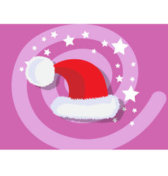 Santa claus hat icon christmas vector