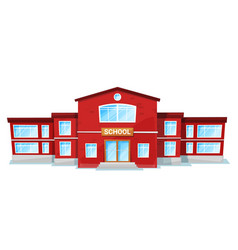 schoolhouse or educational place school vector image