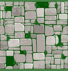 Seamless background texture grey stone on grass vector