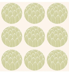 Seamless pattern circles and hand drawn pattern vector