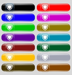 shield icon sign Set from fourteen multi-colored vector image