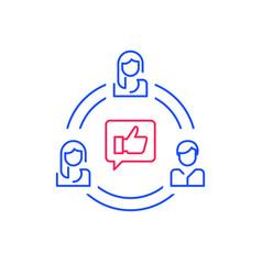 Social media influence refer a friend program vector