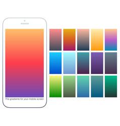 Soft color gradient backgrounds setmodern screens vector