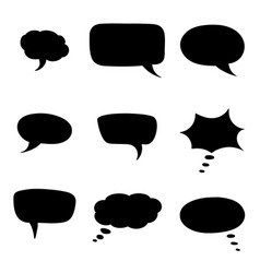 speech bubbles black silhouette icons vector image