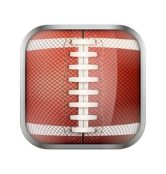 Square icon for american football app or games vector image