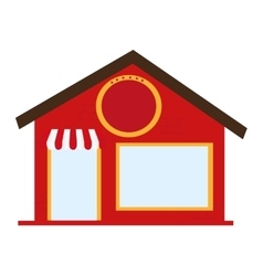 Store building place isolated vector