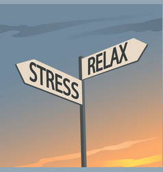 stress and relax indication sign vector image