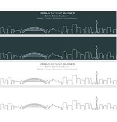 Sydney single line skyline banner vector